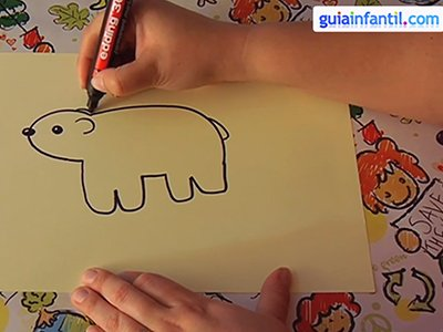 Dibujar un oso. Paso 3.