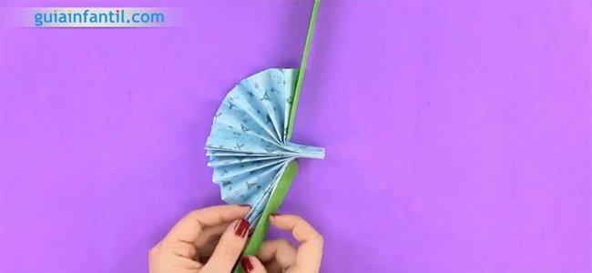 Pai pai de origami. Paso 3