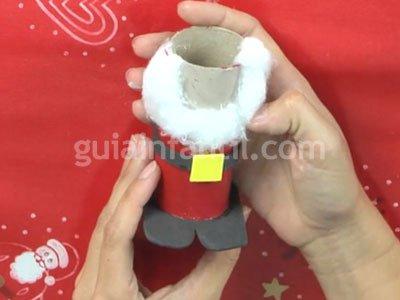 Papa Noel de cartón. Paso 5