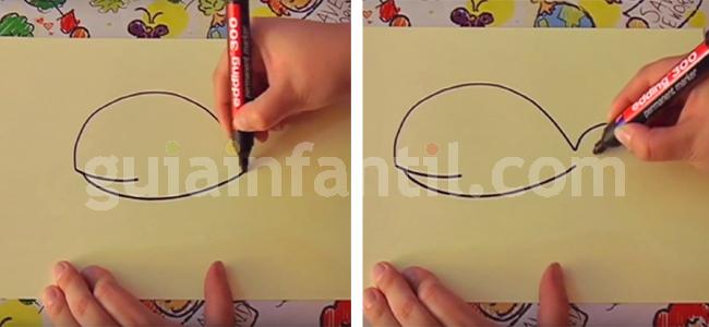 dibujar una ballena 2
