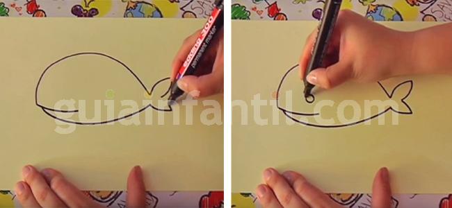 dibujar una ballena 3