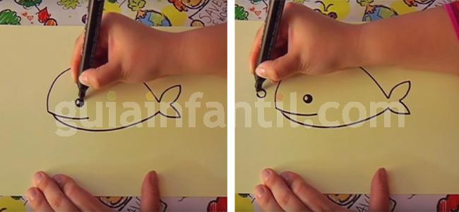 dibujar una ballena 4