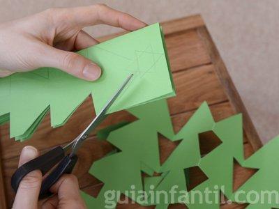 Guirnalda de árbol de Navidad. Paso 3