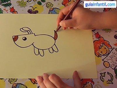 Aprender a dibujar un perro. Paso 4