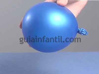 Atravesar un globo sin que explote. Paso 1.