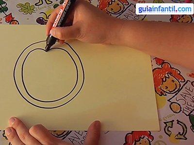 Dibujar un pingüino. Paso 1.