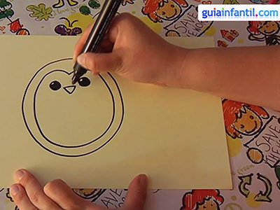 Dibujar un pingüino. Paso 2.