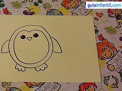 Dibujar un pingüino. Paso 3.