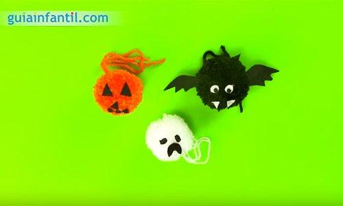 Pompones de halloween. Paso 4