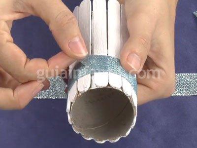 Bote de lápices de reciclaje. Paso 3