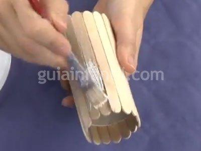 Bote de lápices de reciclaje. Paso 2