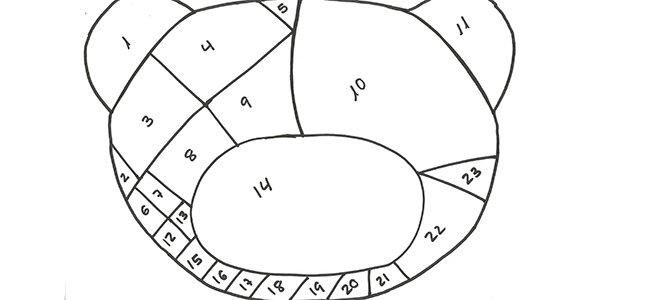 Puzzle de Traposo. Paso 1