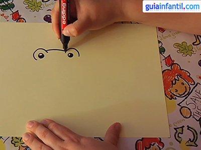 Dibujar una rana. Paso 1.