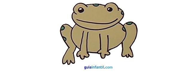 Cómo dibujar una rana, paso a paso.