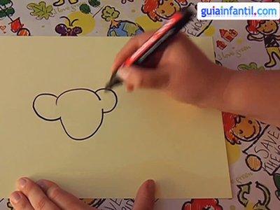 Aprende a dibujar un ratón. Paso 1.