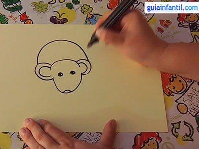 Aprende a dibujar un ratón. Paso 2.