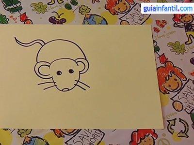 Aprende a dibujar un ratón. Paso 3.