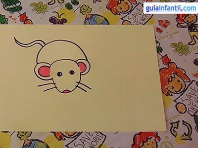 Aprende a dibujar un ratón. Paso 4.