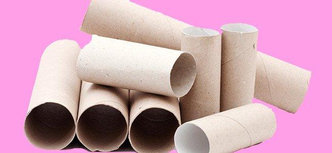 Hacer manualidades con rollos de papel higiénico