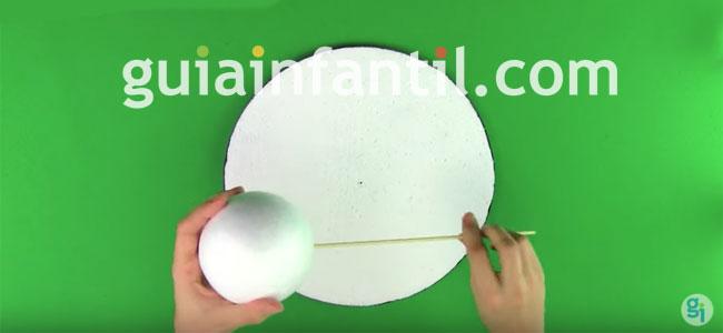 Sistema Solar con bolas de porixpán