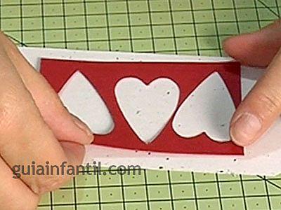 Tarjeta con corazones 3