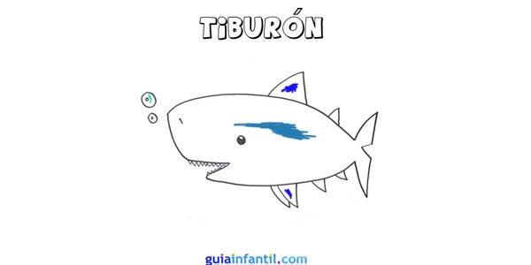 Dibujo de un tiburón.