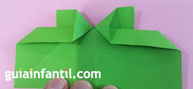 Trébol de origami. Paso 4