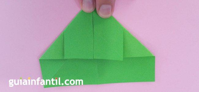 Trébol de origami. Paso 2