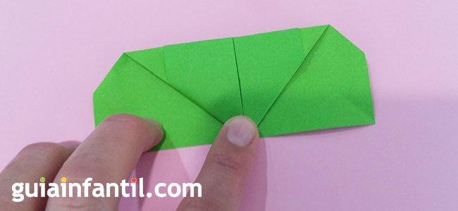 Trébol de origami. Paso 3