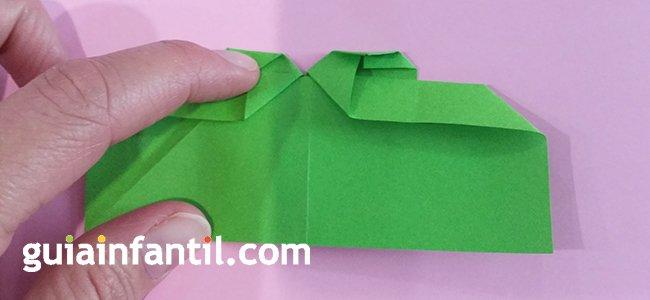 Trébol de origami. Paso 5
