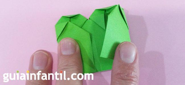 Trébol de origami. Paso 6