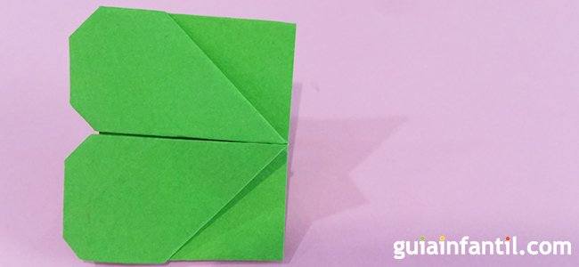 Trébol de origami. Paso 7