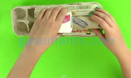 Cómo hacer un tren de cartón. Paso 1