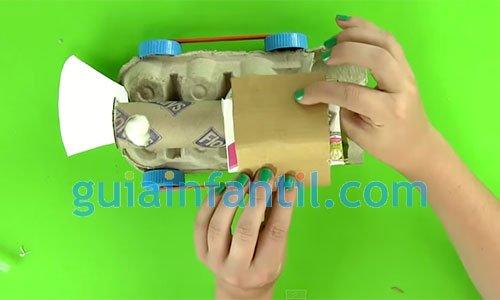 Cómo hacer un tren de cartón. Paso 4
