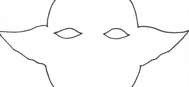 Máscara de Yoda. Paso 1