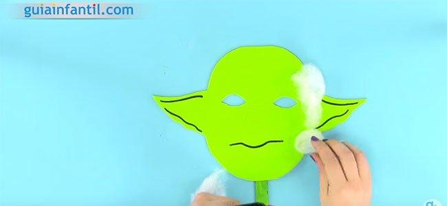 Máscara de Yoda. Paso 5
