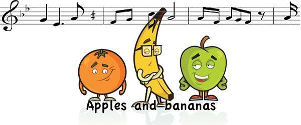 Apple and bananas canción en inglés