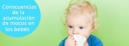 Consecuencias de los mocos en los bebés