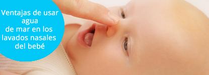 Ventajas de usar agua de mar en los lavados nasales del bebé