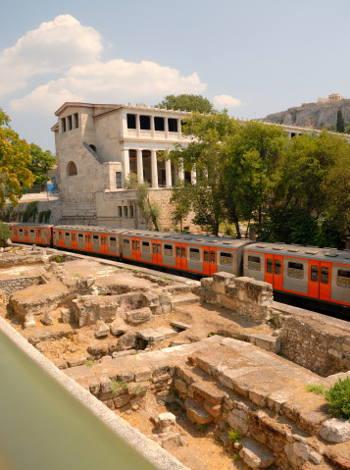 Moverse en metro en Atenas