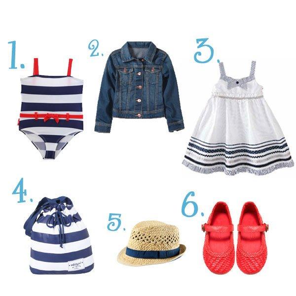 Shopping estilo marinero para niñas