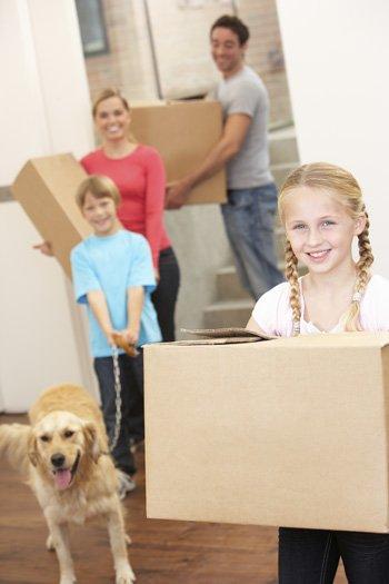 Mudanza de casa con niños pequeños