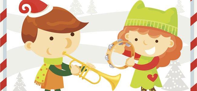 Niños tocando navidad. Villancicos infantiles