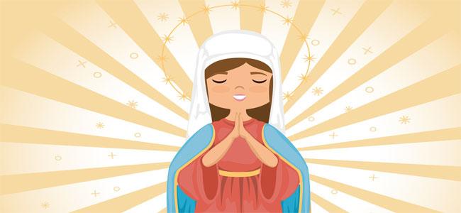 De cuán graciosa y apacible era la belleza de la Virgen. poema de navidad para niños