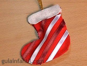 Bota de Papá Noel de fieltro