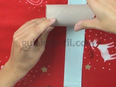 Ángel de Navidad de cartón. Paso 2