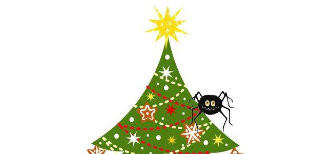 Arbol de Navidad con araña