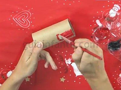 rbol de navidad de cartn paso
