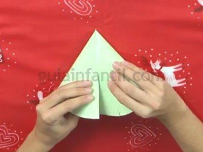 Árbol de Navidad de cartón. Paso 4