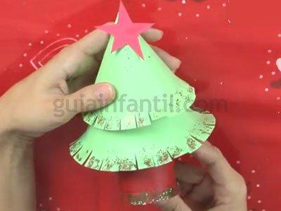 Árbol de Navidad de cartón. Paso 7